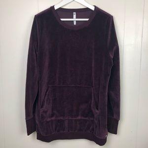 Fabletics Velvet Pullover Crew Neck Sweatshirt L
